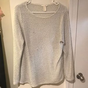 H&M white and black knit light sweater